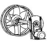 Осевой реверсивный вентилятор ОВР-6,3С с выносным двигателем для установки в сушильных камерах.
